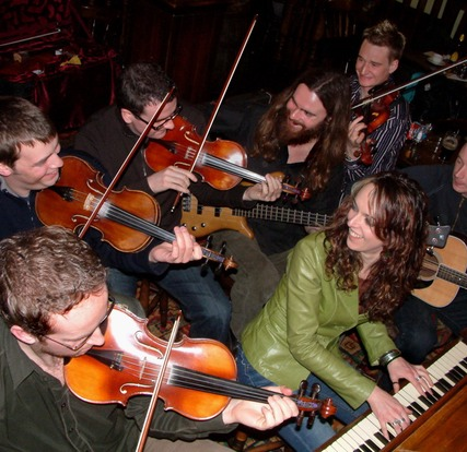 Fiddlers' Bid session, photo by Heidi